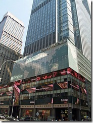 Lehman Brothers in Times Square before collapse