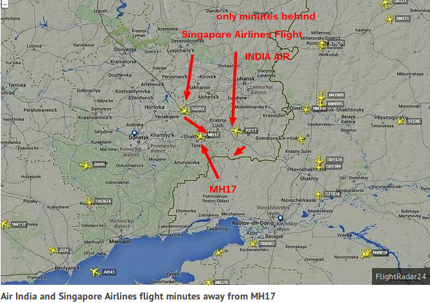 Malaysia Airlines MH17 crash  Singapore Airlines flight was  minutes  away when plane was shot down   Mirror Online